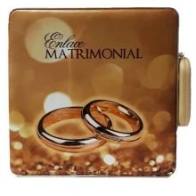 ESTOJO ENLACE MATRIMONIAL ADVANCED 15X21(20x25) C/ALÇA - MARROM COM ALIANÇAS