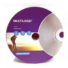 CD-R MULTILASER PRINTABLE BRANCO - 50 UNIDADES